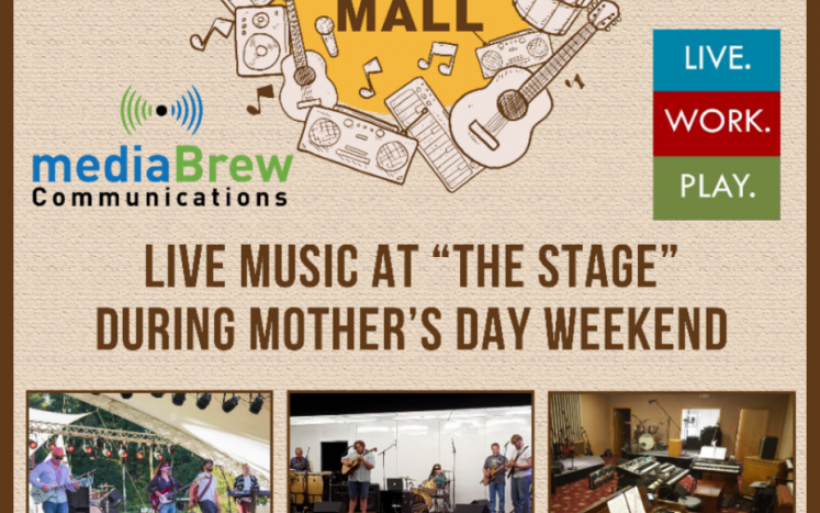 Poster for Music in the Mall on Mother's Day Weekend