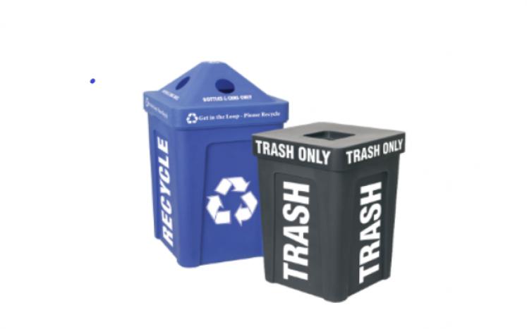 Recycling and trash bin